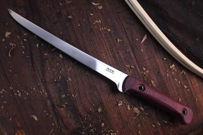 """3DK Fisher 8"""" Fillet Knife,  Purpleheart Wood"""