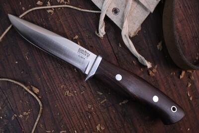 """Bark River Snowy River 3.75"""" Fixed Blade Knife / Desert Ironwood / Satin Elmax ( Pre Owned )"""
