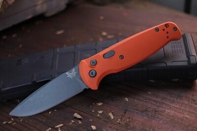 "Benchmade CLA 3.4"" Drop Point Automatic Knife / Orange Cerakote / Cobalt Cerakote 154CM ( Pre Owned )"
