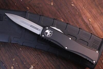 "Microtech Hera 3"" OTF Automatic Knife Dagger / Black Aluminum / Stonewash"