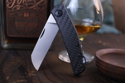 "Zero Tolerance 0230 Anso 2.6"" Slipjoint Knife / Carbon FIber / Stonewash 20cv ( Pre Owned )"