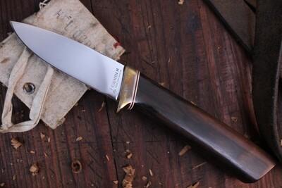 "Gerber Classic C325 Custom Series 3.5"" Fixed Blade / Al Mar Design  / Ebony / Satin M2HS ( Pre Owned )"