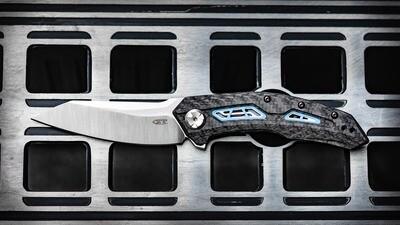 """Zero Tolerance 0762 3.4"""" Folding Knife / Carbon Fiber & Titanium Sub Frame / Satin 20CV"""