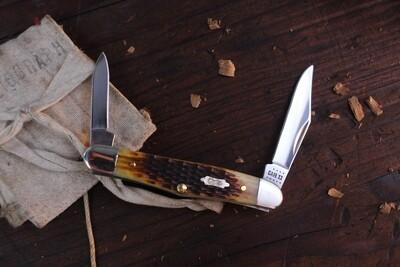 "Case Half Whittler 6208SS 3.25"" / Antique Rogers Corn Cob Jigged Bone / Silver Bolsters"