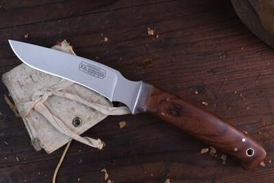 """W. G. Stegner Custom Non-Catalog Hunter 4.5"""" Fixed Blade / Desert Ironwood / Satin ATS-34"""