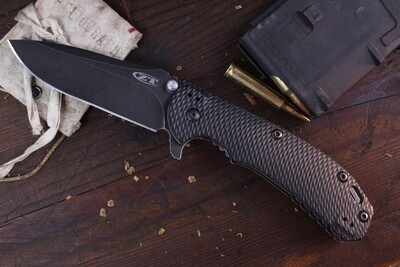 """Zero Tolerance 0560BW 3.75"""" Folding Knife / Black G10 & Titanium / Blackwashed Elmax ( Pre Owned )"""