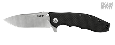 "Zero Tolerance 0562CF Hinderer 3.5"" Flipper Knife / Carbon Fiber / Titanium / Satin"