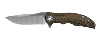 "Zero Tolerance 0609 RJ Martin 3.4"" Flipper Knife Bronze Ti / Satin"