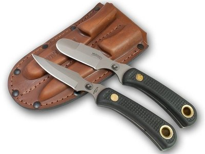 Knives of Alaska Muskrat / Cub Bear Combination Knife Set (D2 Steel / SureGrip™) W/Dual Leather Sheath