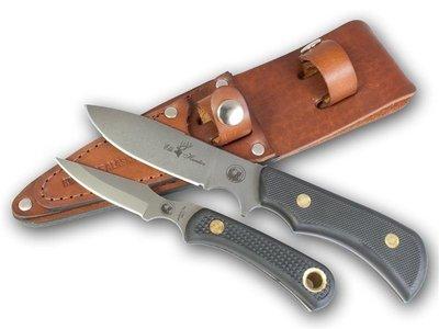 Knives of Alaska Trekker Elk Hunter / Cub Bear Knife Set (D2 Steel / SureGrip™) W/Dual Leather Sheath