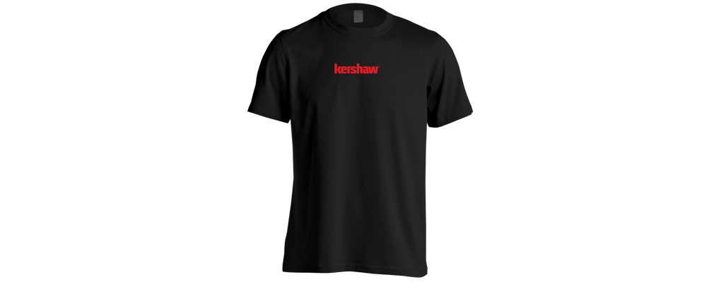 Kershaw T-Shirt Black/Red Medium