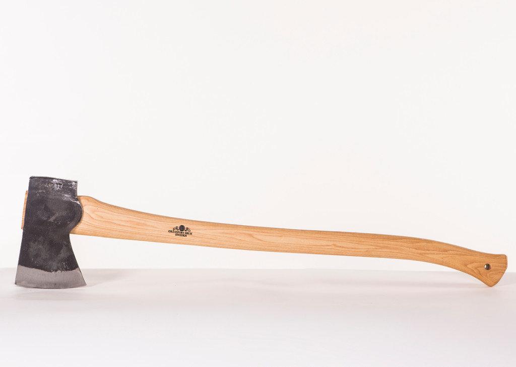 "Gränsfors Bruk American Felling Axe, 35.5"" Curved Handle (4.8lbs)"