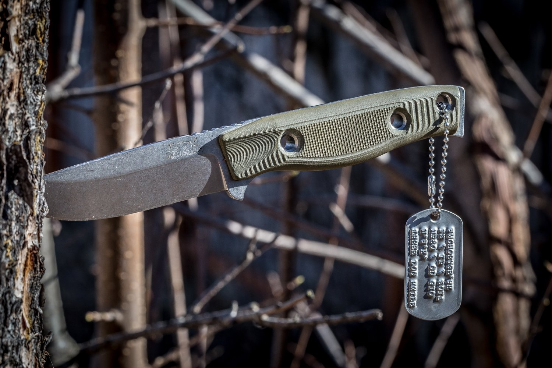 "3DK MAK 4"" Fixed Drop Point, N690 Blade / OD Green G10 handle"