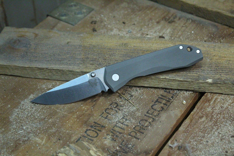 "Benchmade 765 Mini Monolock 3.24"" Titanium Knife / Satin (Pre-Owned)"