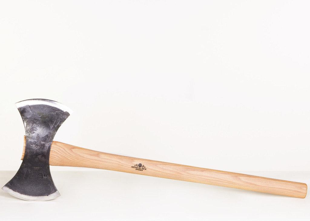 "Gränsfors Bruk Handle, Double Bit Throwing Axe - 28.5"" Straight Handle"
