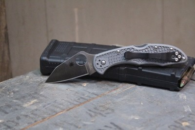 Spyderco Endura / Delica Wharn Cliff Blade Modification