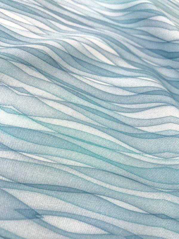 Ocean BlueJean - twill de viscose