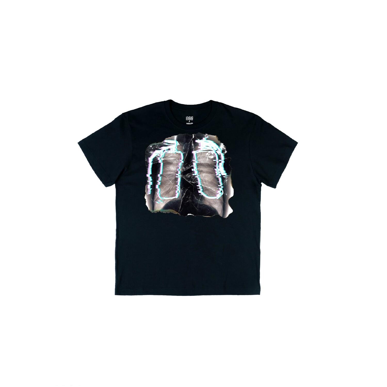 ФУТБОЛКА rib fluorography – ЧЁРНАЯ