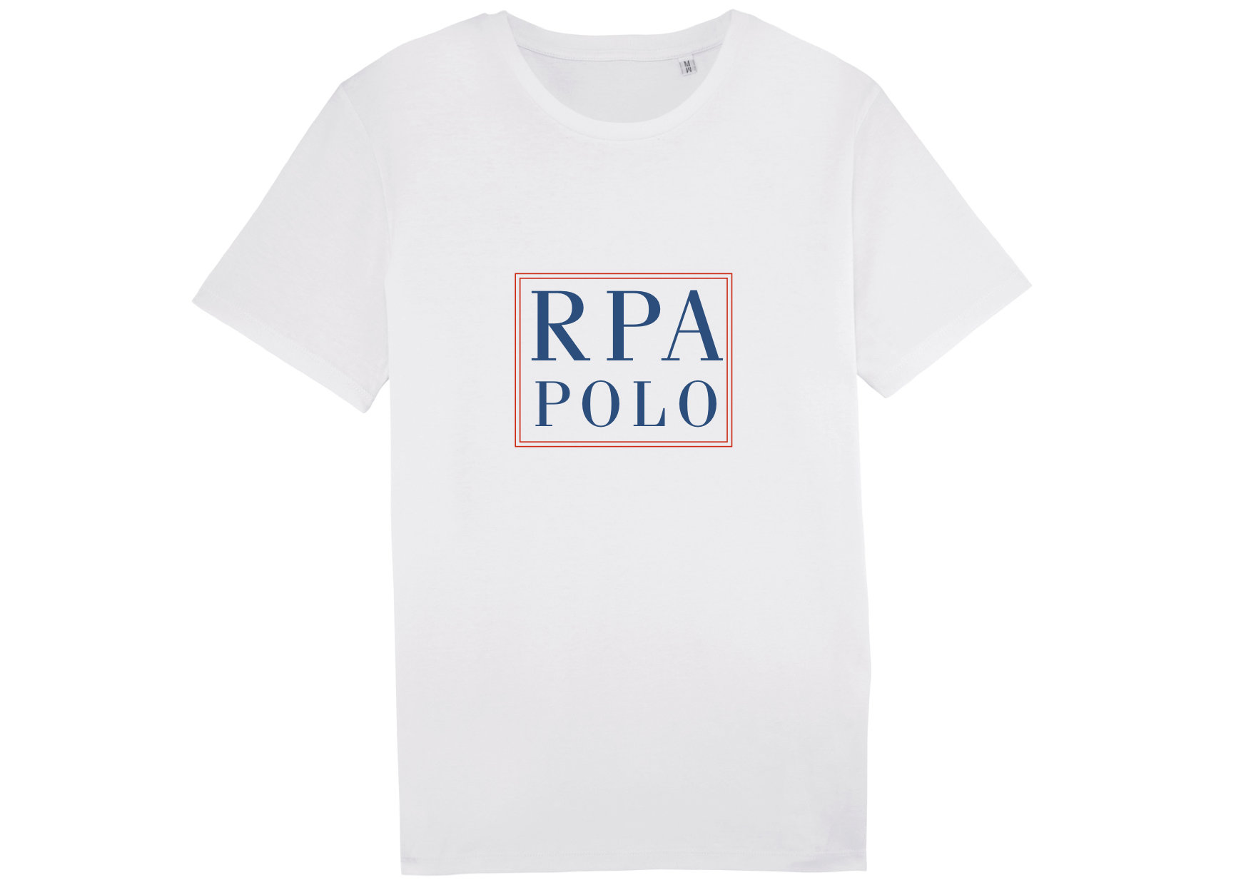 "T-Shirt ""RPA POLO"" in white 00001"