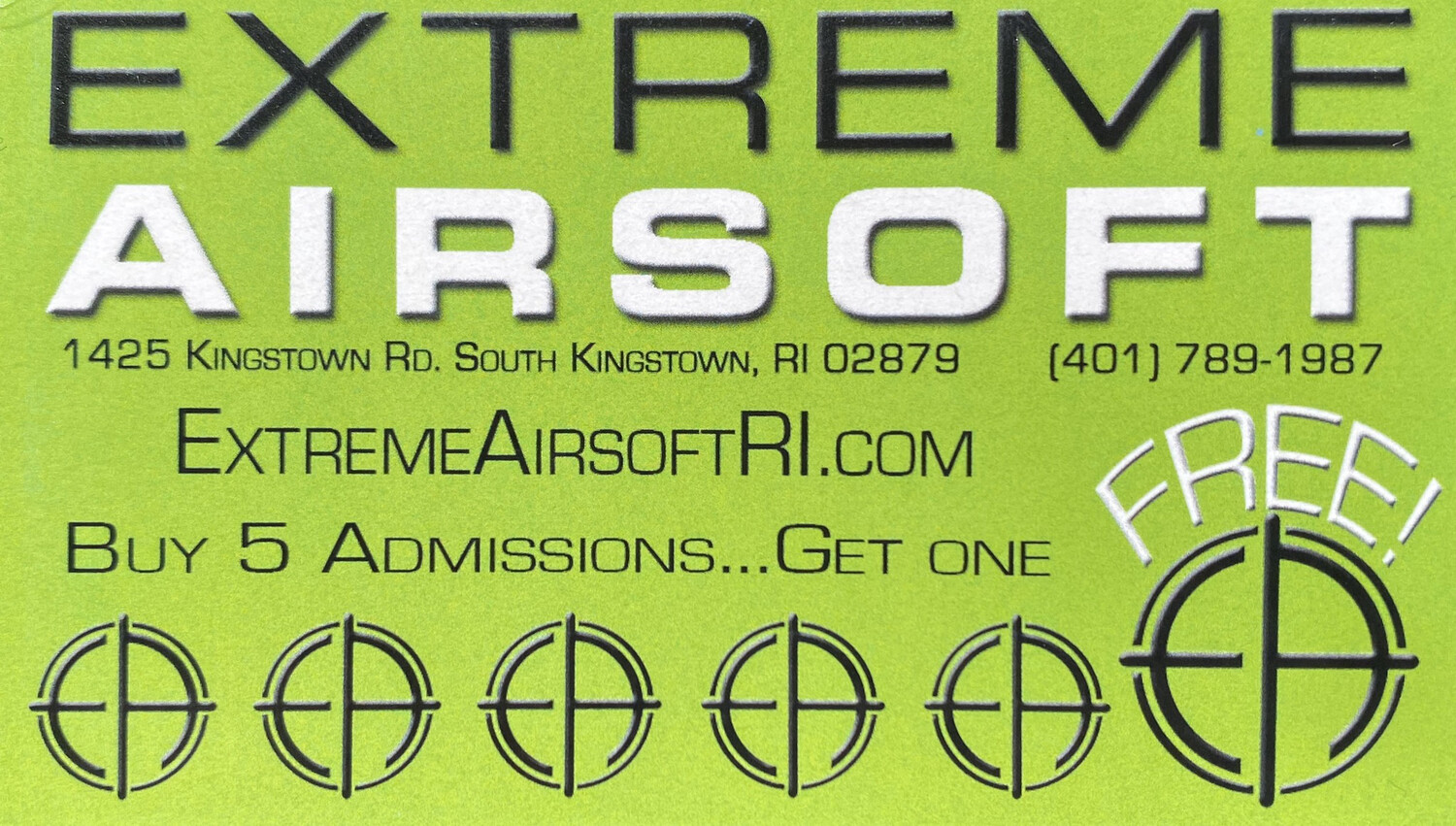Buy 5 Admissions, Get One Free!