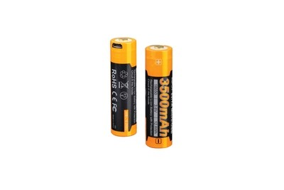 Fenix 3.6V 3500mAh USB Rechargeable 18650 Battery