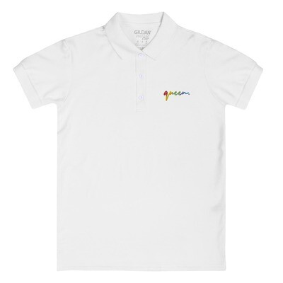quee(r)n Embroidered Women's Polo Shirt