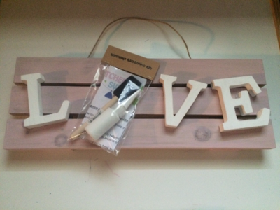 LOVE Handprint Keepsake Kit