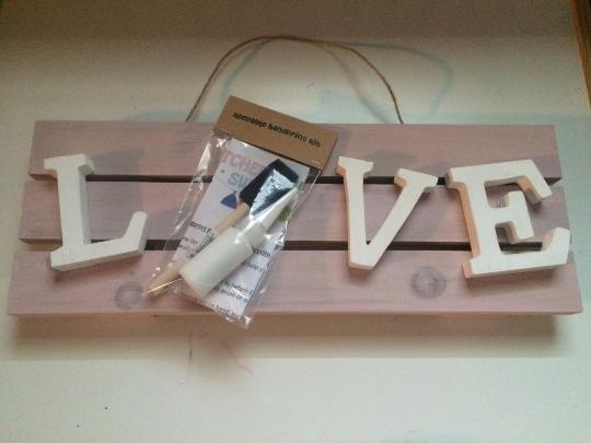 LOVE Handprint Keepsake Kit