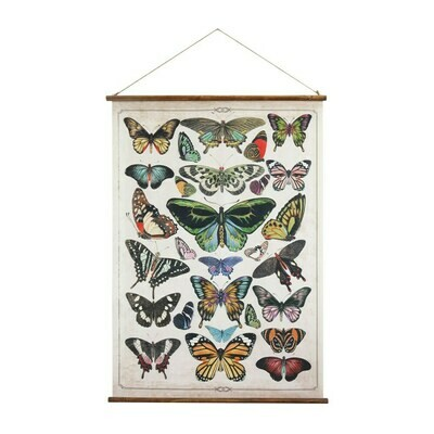 Butterfly Burlap Wood Scroll da9259