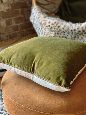 Green velvet pillow DF0669