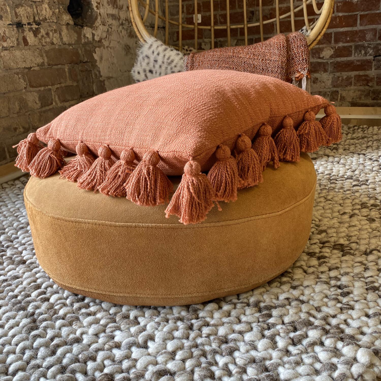 Cotton Woven Tassel Pillow df0667