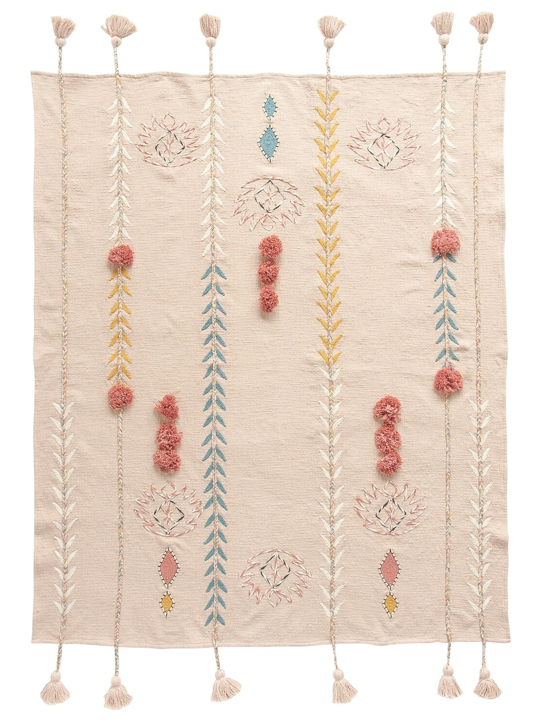 cotton embroidered throw df1630