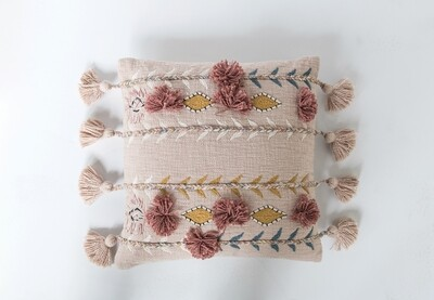Cotton Embroidered Pillow DF1632