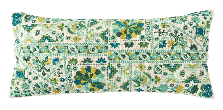 Lumbar Pillow Cotton embroidered DF2143