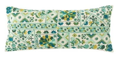 Lumbar Pillow Cotton embroidered DF2143