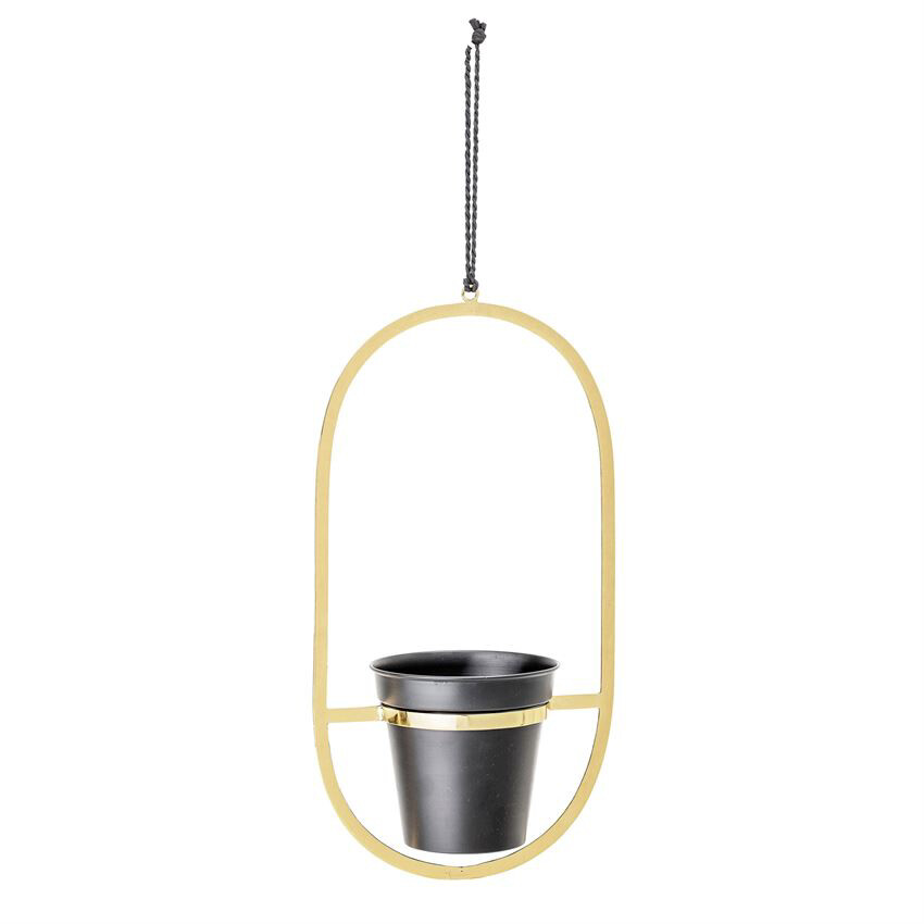black metal hanging planter a82043486