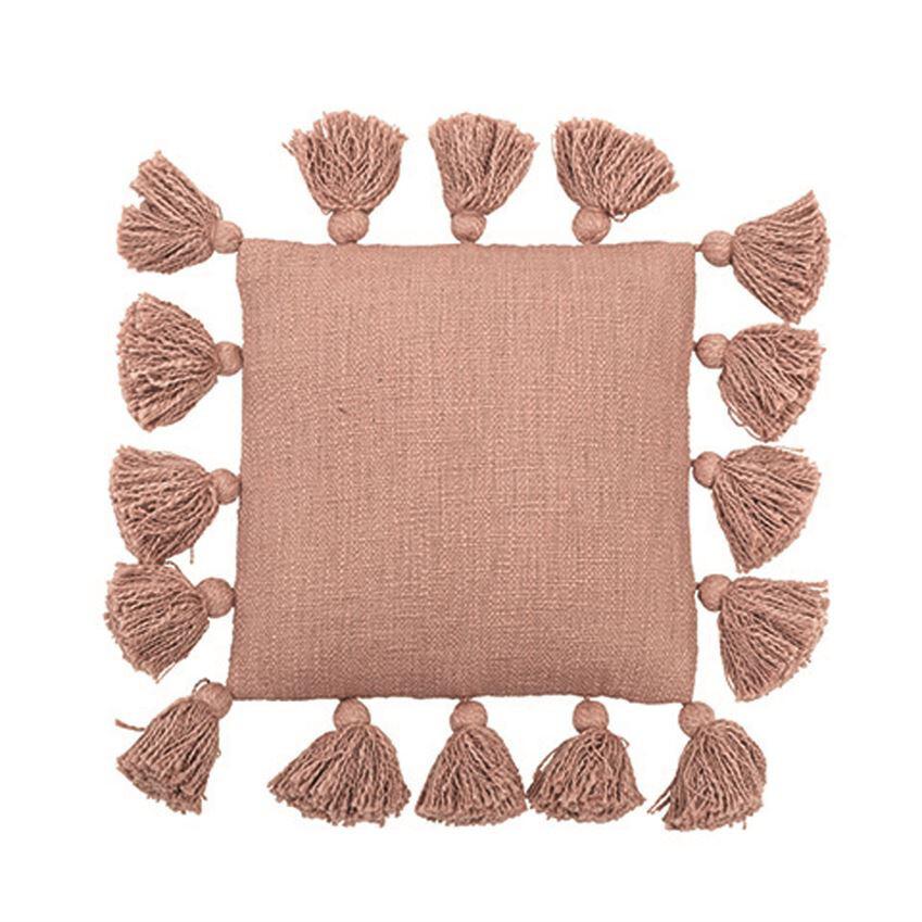 Rose Tassel Throw Pillow ah0641