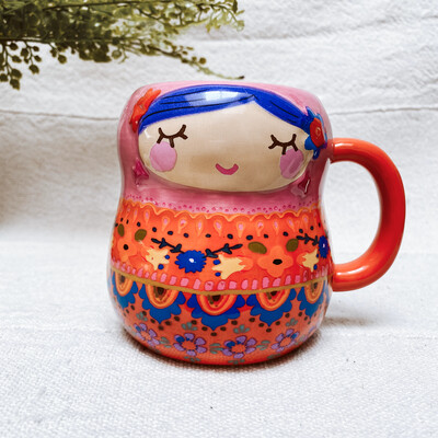 Folk Mug Nesting Doll MUG368