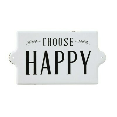 Choose Happy Enamel Wall Decor DF0052
