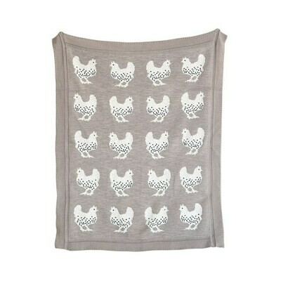 Cotton Baby Blanket Chickens DF0771