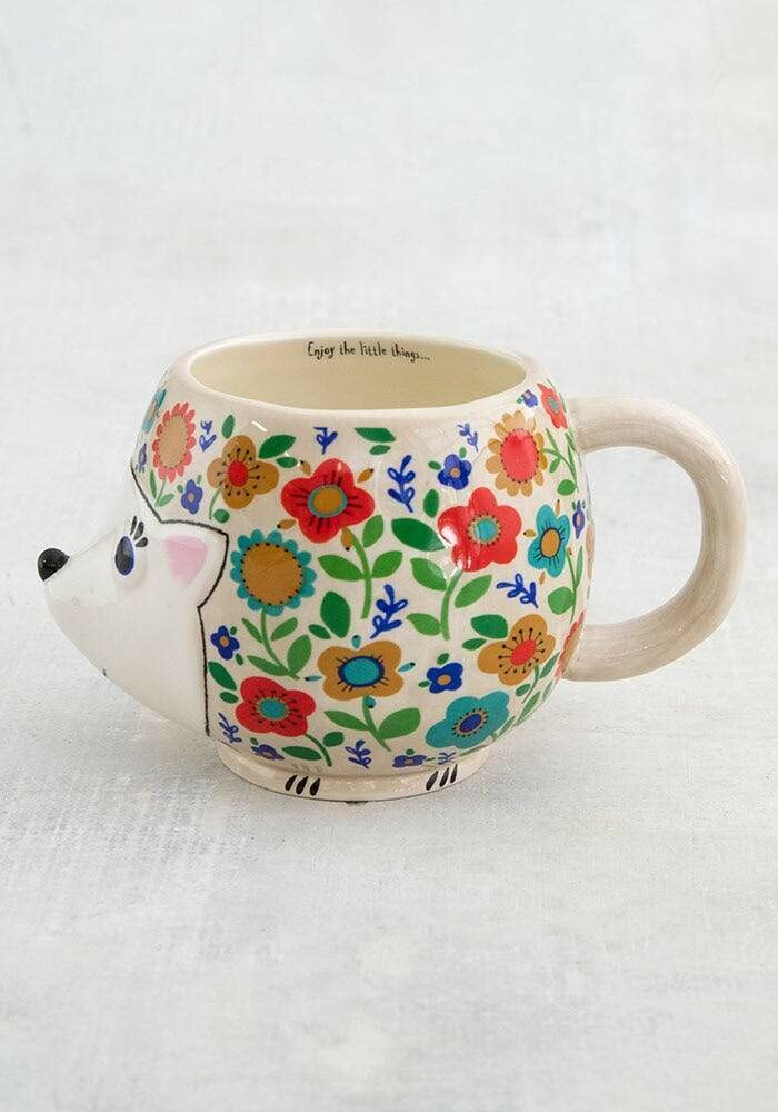 Folk Mug Floral Hedge Hog MUG404