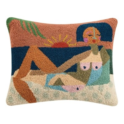 Nude Beach Hook Pillow