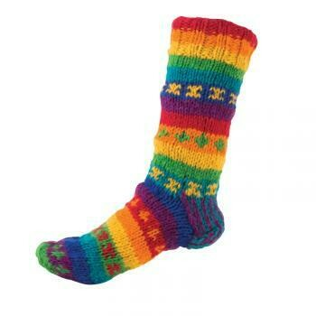 Rainbow Fleece Lined Socks  5988