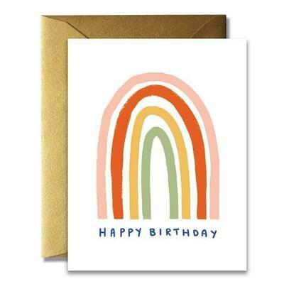 HBD Simple Rainbow Card