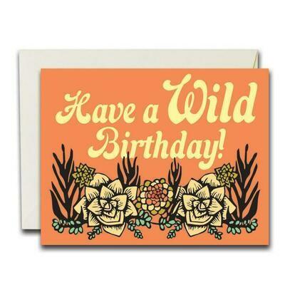Wild Birthday Succulents Card