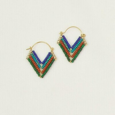 Chevron Beaded Hoops JEA279
