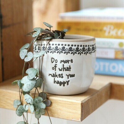Small 8cm Quote Planter