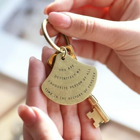 Favorite Person Brass Key Ring