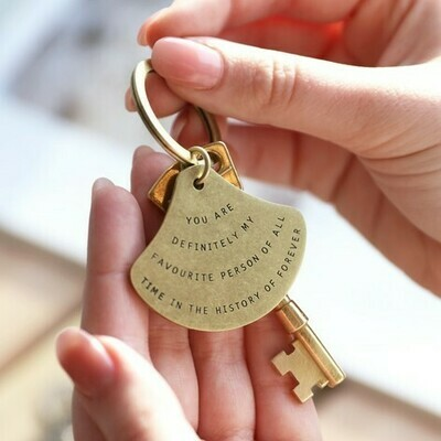 Favorite Person Brass Key Ring