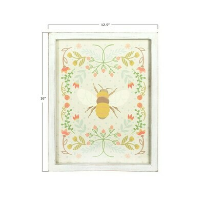 Wood Wall Decor with Bee DF2796a